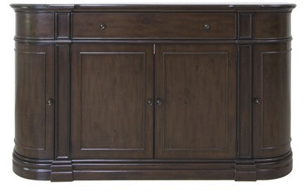 Hawthorne Estate Heritage Pine 1 Drawer 4 Door Curved Credenza