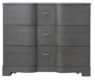 Hawthorne Estate Grey Wash Pine 3 Drawer Shaped Chest