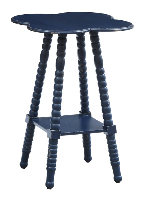 Bar Harbor Indigo Clover Shaped Accent Table