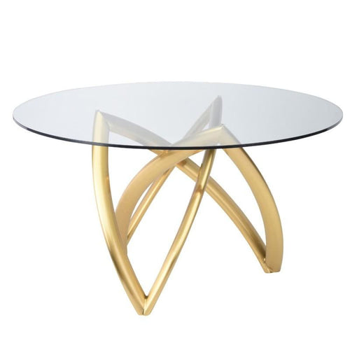 DARIEL DINING TABLE BRUSH GOLD 60""
