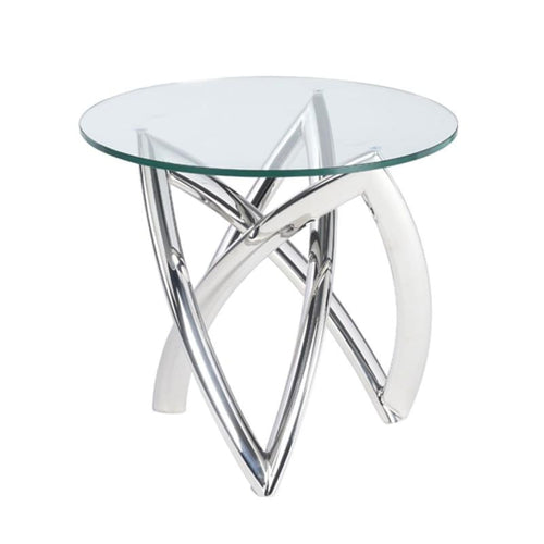DARIEL SIDE TABLE CLEAR STAINLESS