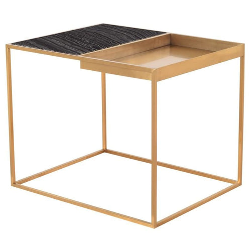 DECIMA SIDE TABLE BLACK 30″ X 24″ X 24″