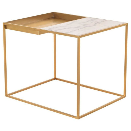 DECIMA SIDE TABLE WHITE 30″ x 24″ x 24″
