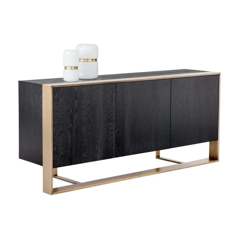 DELMARA SIDEBOARD - ANTIQUE BRASS - BLACK - Sideboard