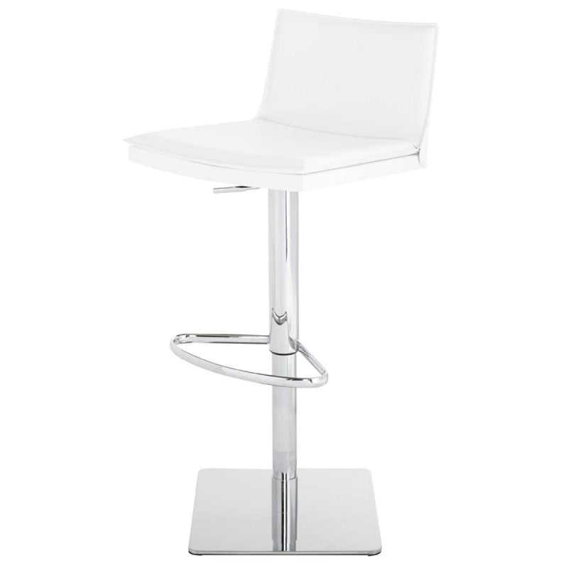 DEVIKA ADJUSTABLE STOOL WHITE - BARSTOOL