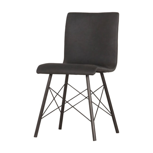 DIALLA DINING CHAIR, Distressed Black