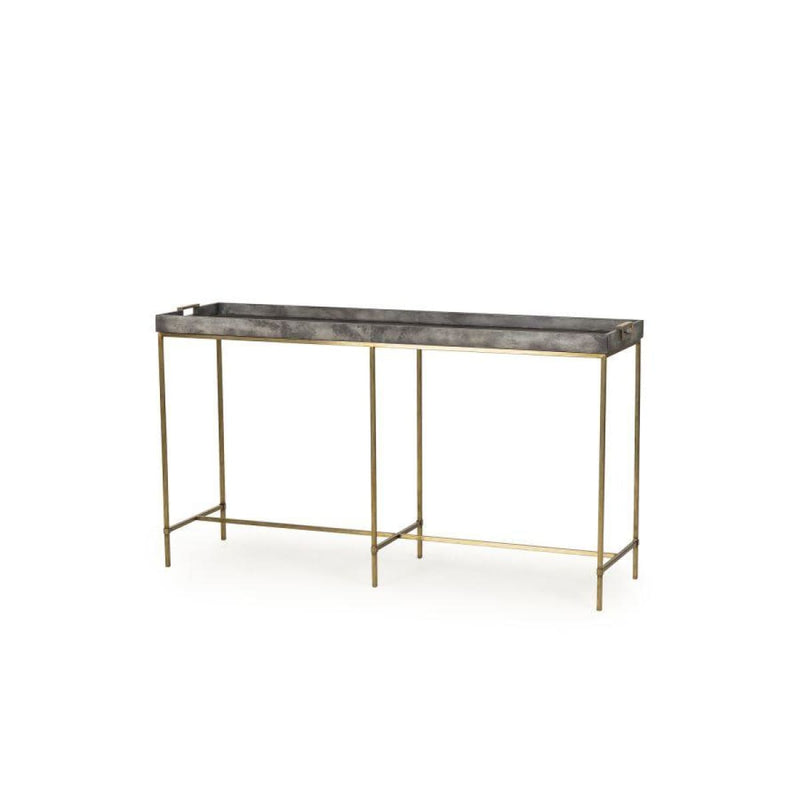 EDMUND CONSOLE TABLE (CHARCOAL VELLUM) - console table