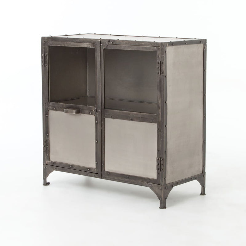 ELEMENTA SIDEBOARD-NICKEL/ANTIQUE NICKEL: Black, Antique Nickel