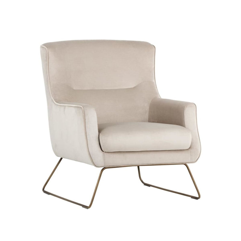 ELENE LOUNGE CHAIR - RUSTIC BRONZE CREAM