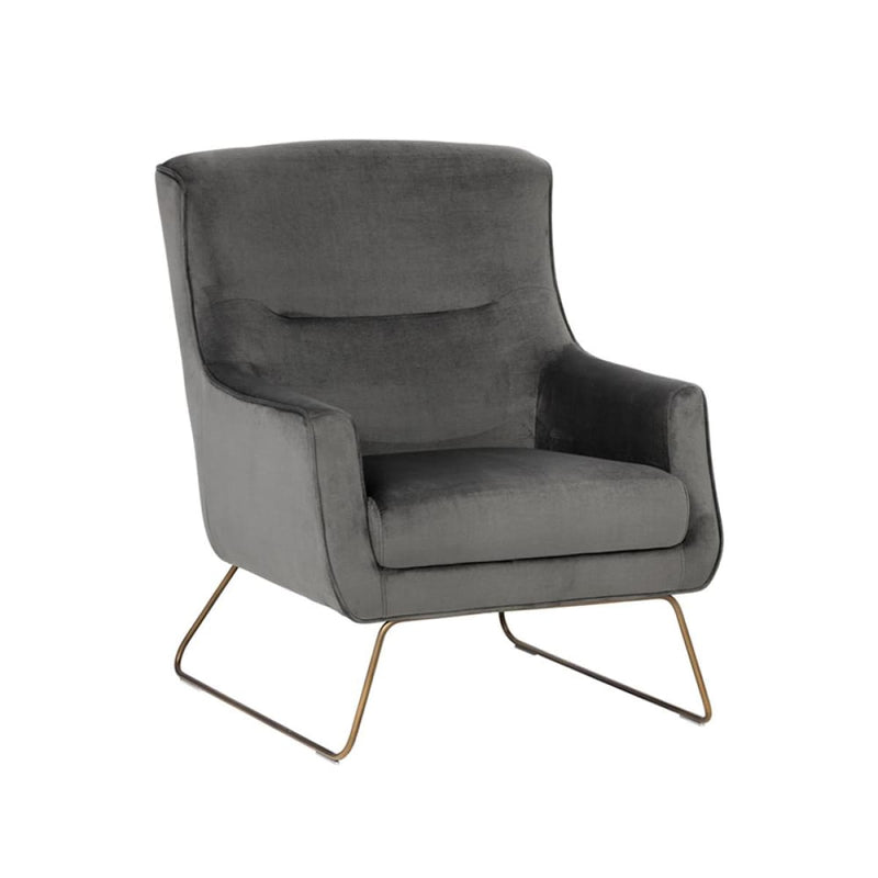 ELENE LOUNGE CHAIR - RUSTIC BRONZE GREY