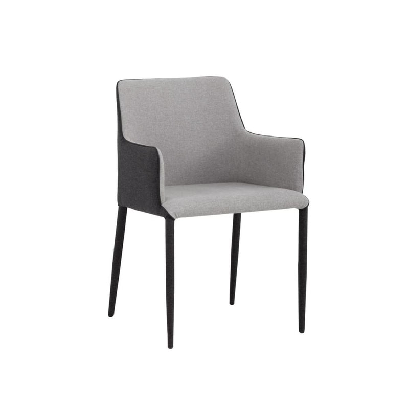 EMALEE ARMCHAIR - ARMOUR GREY FABRIC / DARK SLATE FABRIC