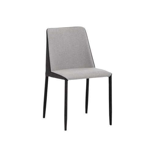 EMALEE DINING CHAIR - ARMOUR GREY FABRIC / DARK SLATE FABRIC - ACCENT CHAIR