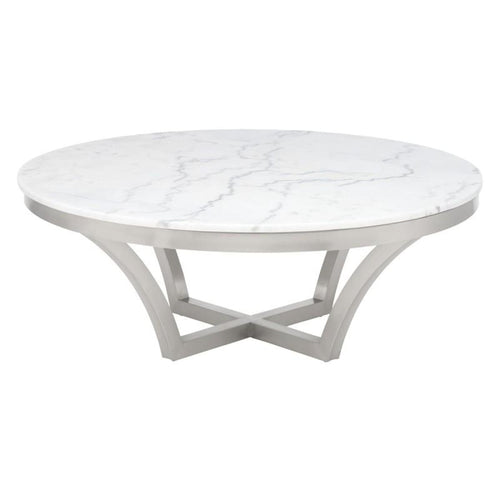 FORTINO COFFEE TABLE WHITE - COFFEE TABLE