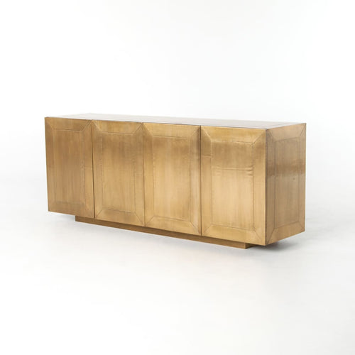 FRANCOISE SIDEBOARD: Grey Natural, Aged Brass Clad