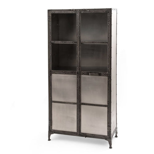 GIAN CABINET-NICKEL/ANTIQUE NICKEL