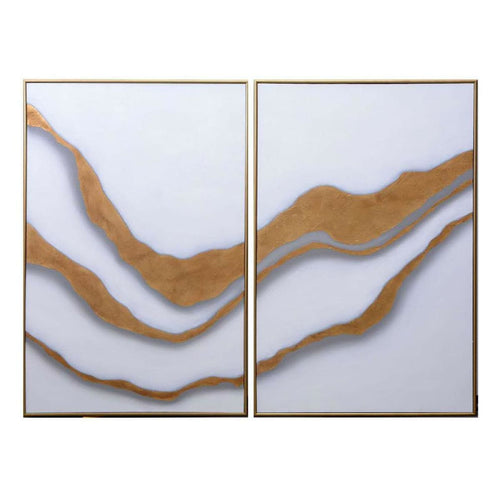 GOLD ABYSS - SET OF 2 - GOLD FLOATER FRAME - ART