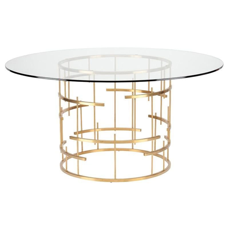 HIRAM DINING TABLE CLEAR - DINING TABLE