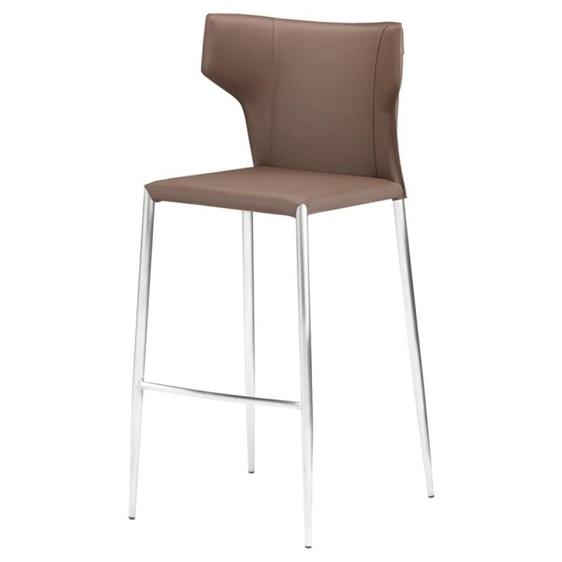 INTEUS BAR STOOL MINK STAINLESS - BARSTOOL