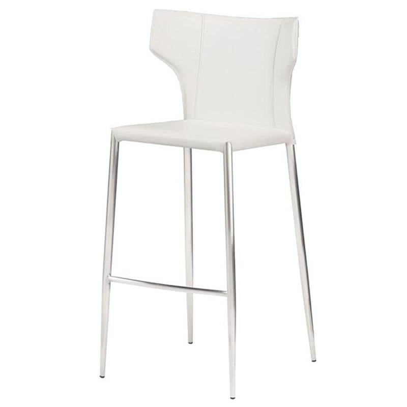 INTEUS BAR STOOL WHITE STAINLESS - BARSTOOL