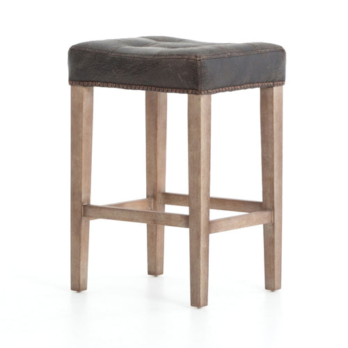 INTEUS COUNTER STOOL DESTROYED BLACK