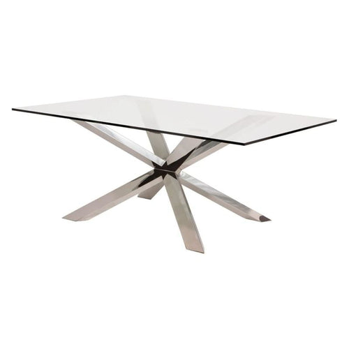 JADIRA DINING TABLE CLEAR  94""