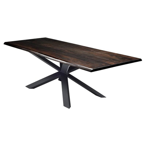 JADIRA DINING TABLE OXIDIZED GREY BLACK 96""