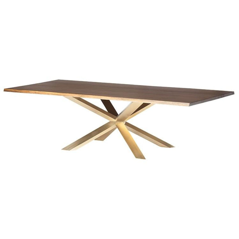 JADIRA DINING TABLE SEARED GOLD BRUSH 112 - DINING TABLE