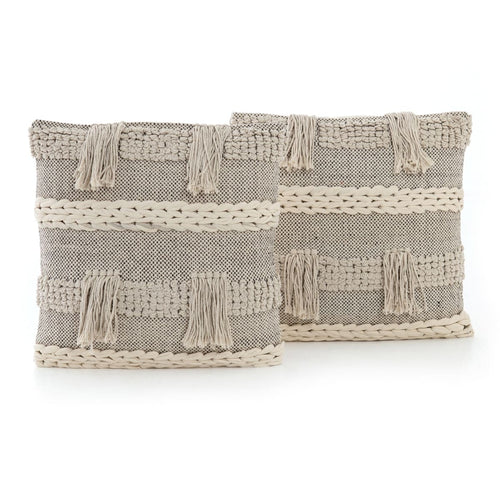 JADON FRINGE PILLOW, SET OF 2-20""