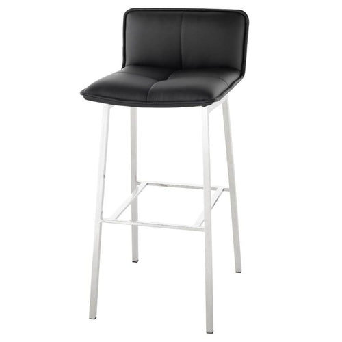 KARSTEN COUNTER STOOL BLACK STAINLESS