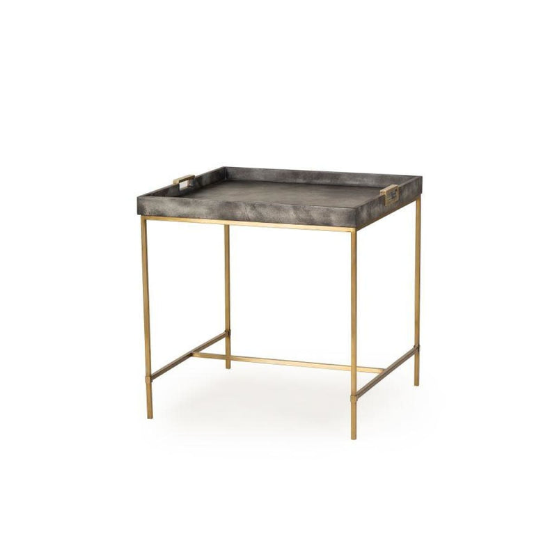 LANGDON SIDE TABLE (CHARCOAL VELLUM) - side tables