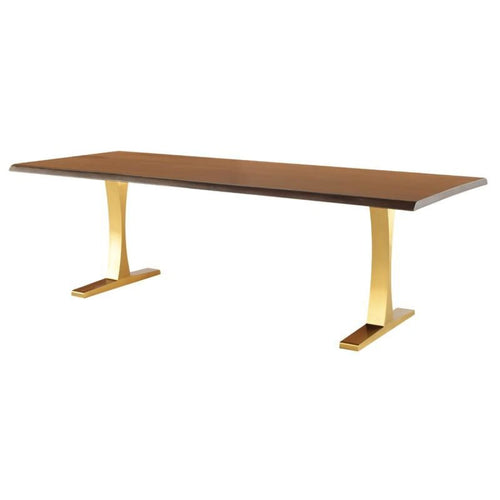 LEROUX DINING TABLE SEARED GOLD BRUSH