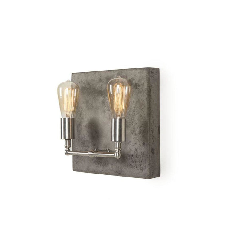 LEVINA SCONCE - DOUBLE / NICKEL