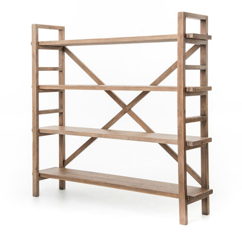 LEXANN LARGE BOOKSHELF-SUNDRIED WHEAT
