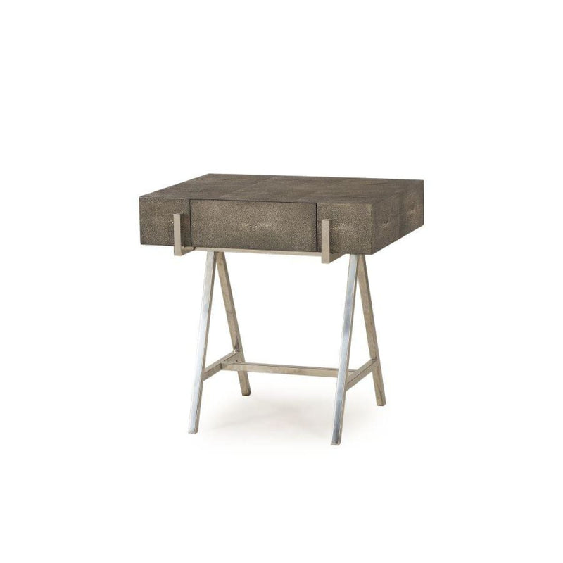 MAVRICK SIDE TABLE- - CHARCOAL SHAGREEN - side tables