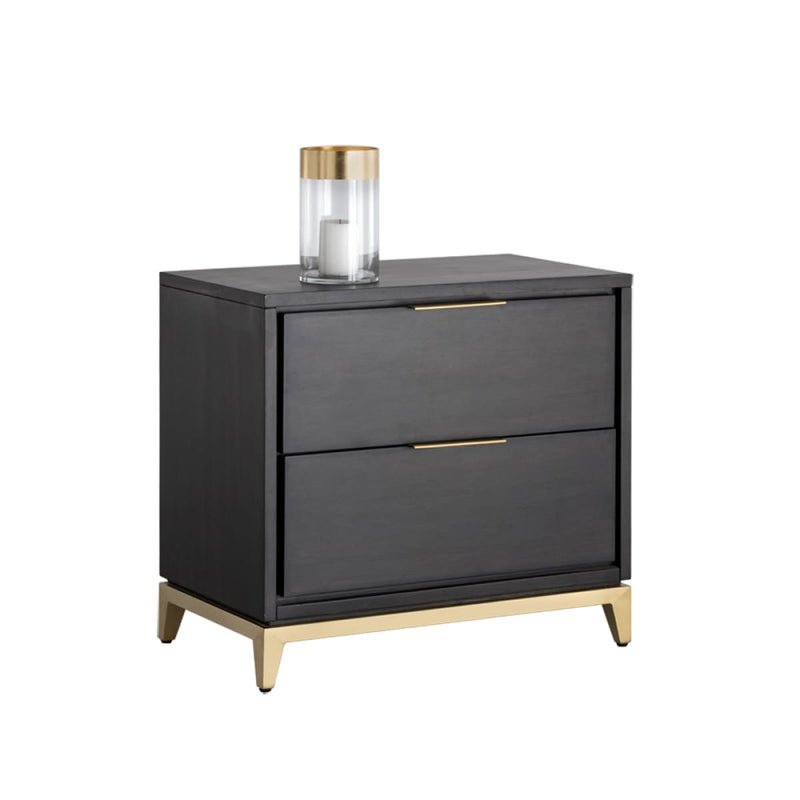 MONTES NIGHTSTAND - BRUSHED GOLD - NIGHTSTAND