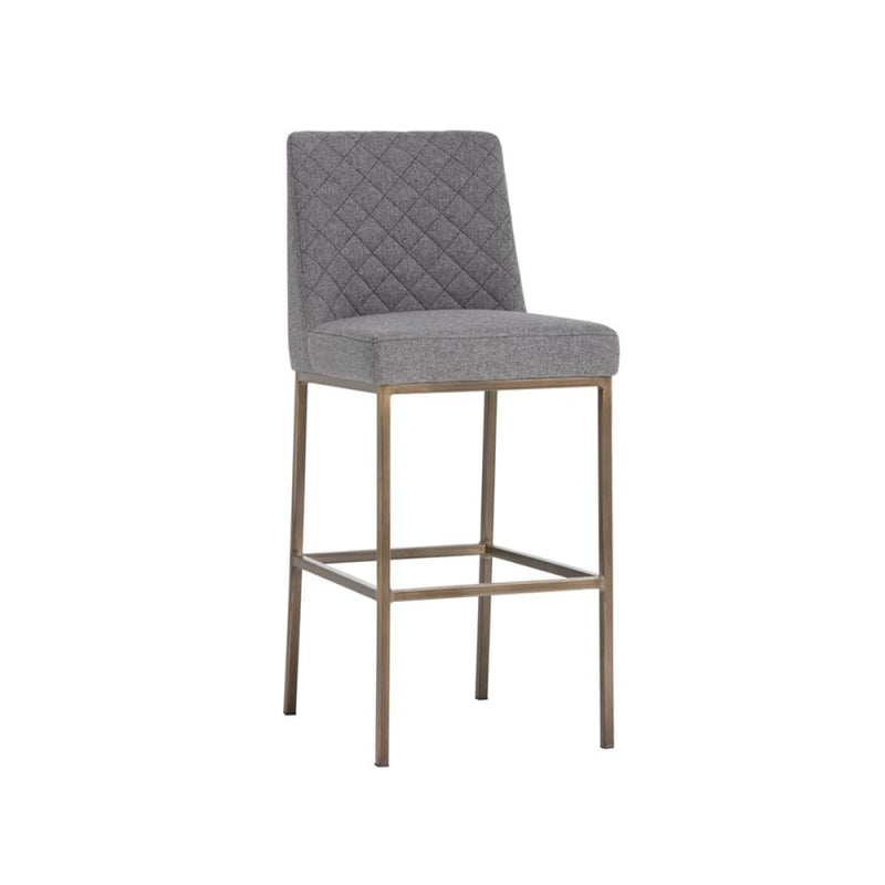 ORIANA BARSTOOL - ANTIQUE BRASS GREY