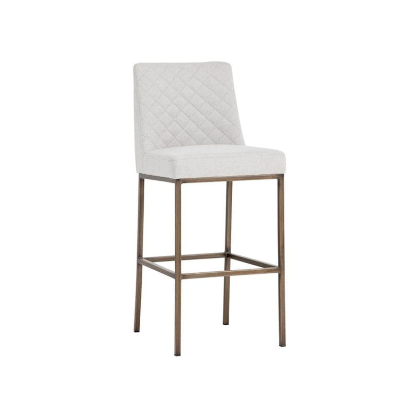 ORIANA BARSTOOL - ANTIQUE BRASS LIGHT GREY