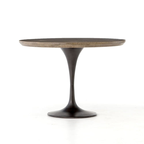 "PASCAL 42"" BISTRO TABLE : Bright Brass Clad"
