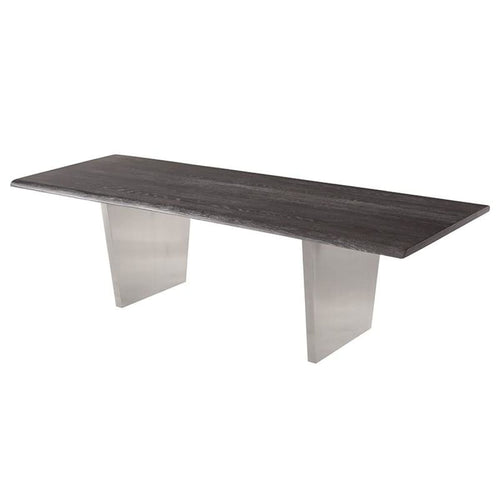 PATRICK DINING TABLE OXIDIZED GREY 112""