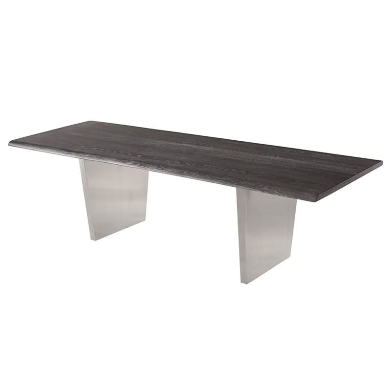 PATRICK DINING TABLE OXIDIZED GREY 78 - Dining Tables