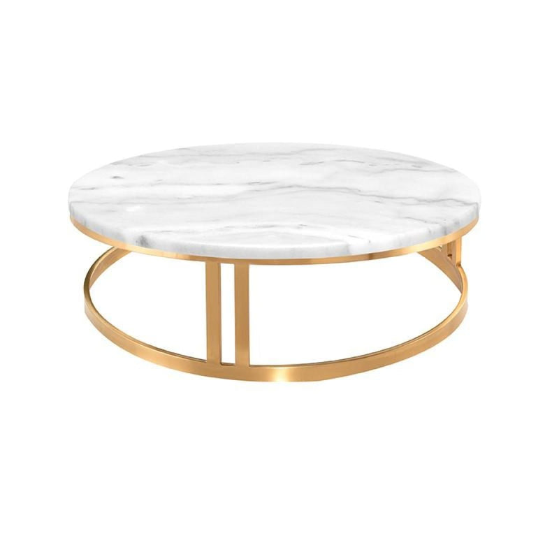 PEMTON COFFEE TABLE WHITE GOLD BRUSH