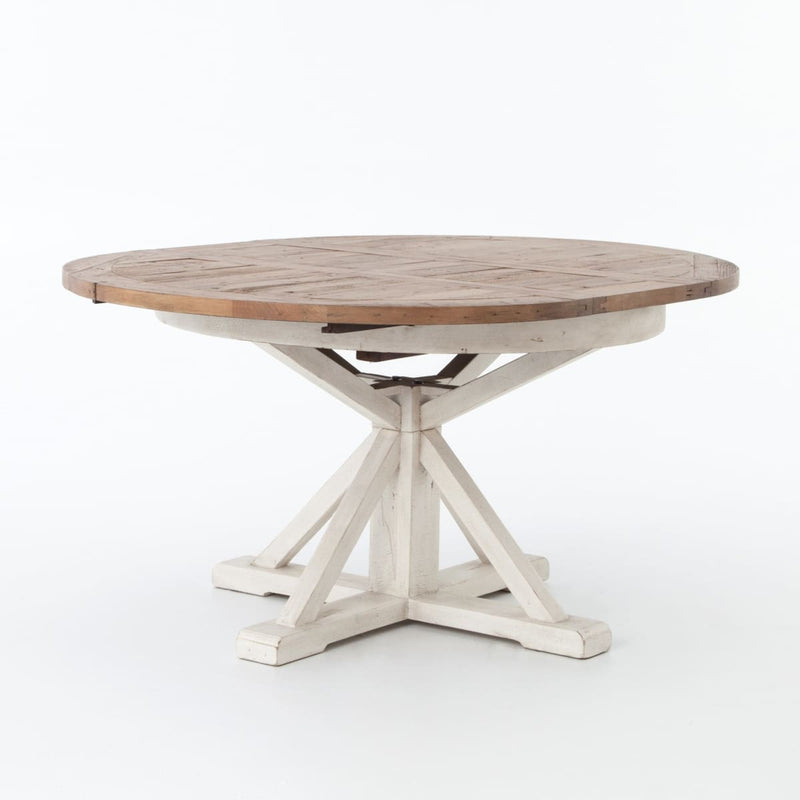 PIETRA EXTENSION DINING TABLE DRIFTWOOD NATURAL/LIMESTONE WHITE 48""