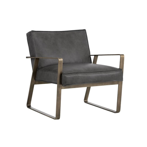 PIPPIN LOUNGE CHAIR - ANTIQUE BRASS