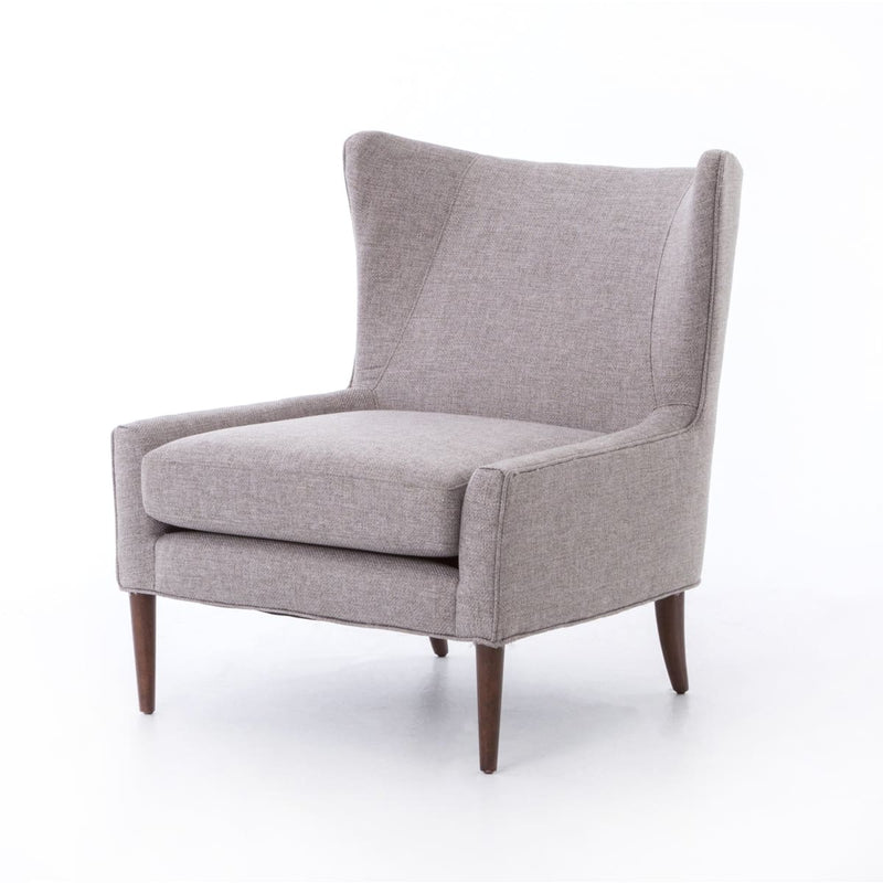PRUNELLA WING CHAIR CHESS PEWTER - Chairs