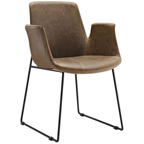 RADFORD DINING ARMCHAIR IN BROWN - DINING CHAIR