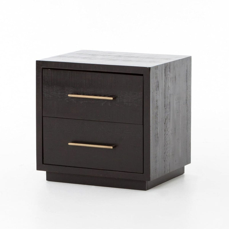 RAIDON NIGHTSTAND-BURNISHED BLACK - NIGHTSTAND