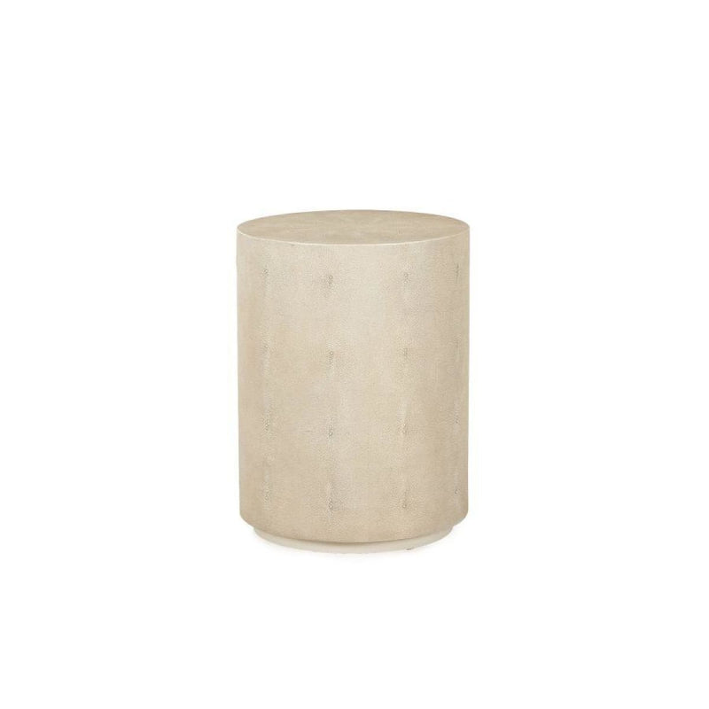 RANSOM SIDE TABLE (IVORY SHAGREEN) - End tables