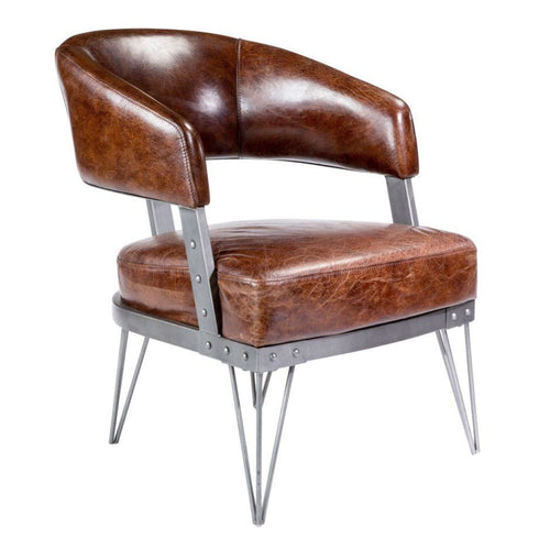 Rocharo club chair brown