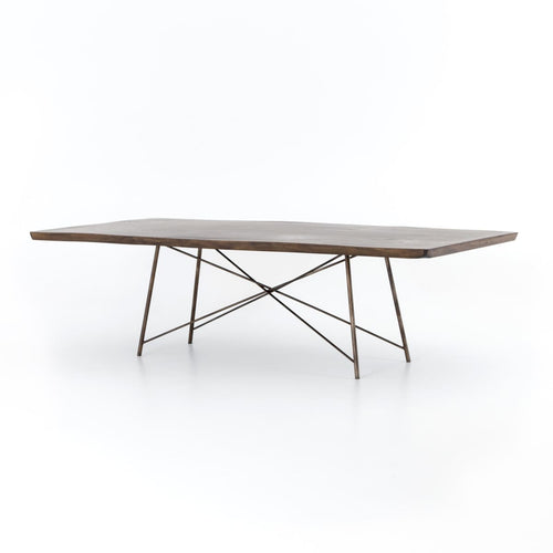 "ROCMORE 101"" DINING TABLE : Bronzed Iron"