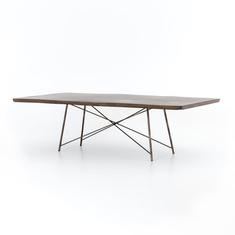 ROCMORE 101 DINING TABLE : Bronzed Iron Smoked Saman - DINING TABLE